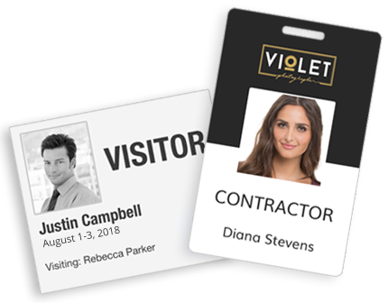 Print Custom Visitor Badges/Passes