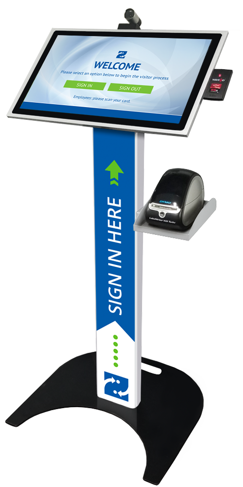 Podium Style Kiosk for Visitor Management